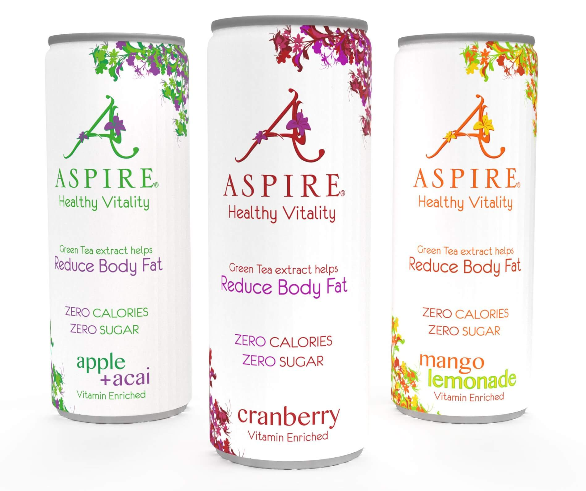 4-pack blikjes Aspire drinks